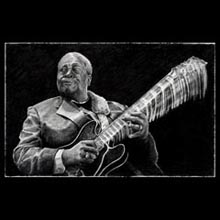 BB King,                 Pencil, Drawing, Underwood