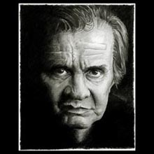 Johnny Cash,                 Pencil, Drawing, Underwood