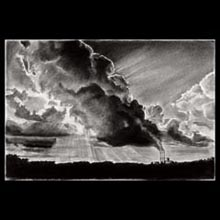 Smoke,                 Clouds, Charcoal, Drawing, Underwood