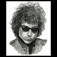 Bob Dylan, Pencil, Drawing, Underwood