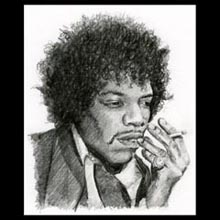 Jimmy Hendrix, Pencil, Drawing, Underwood
