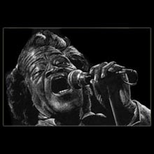 James                 Brown, White Pencil, Drawing, Underwood