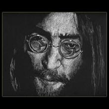 John Lennon,                 White Pencil, Drawing, Underwood