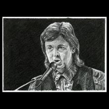 Paul                 McCartney, Pencil, Drawing, Underwood