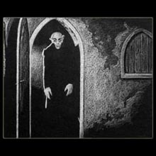 nosferatu,                 White Pencil, Drawing, Underwood