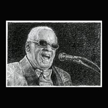 Ray Charles, Pencil, Drawing, Underwood