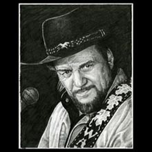 Waylon Jennings, Pencil, Drawing, Underwood