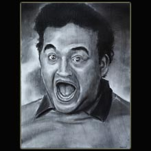 Charcoal                 Drawing, Belushi, Food Fight