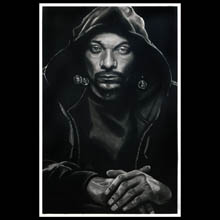 Snoop, Dogg,                 drawing, Charcoal